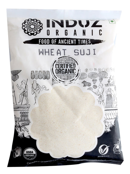 Induz Organics Wheat Suji 500 Gm