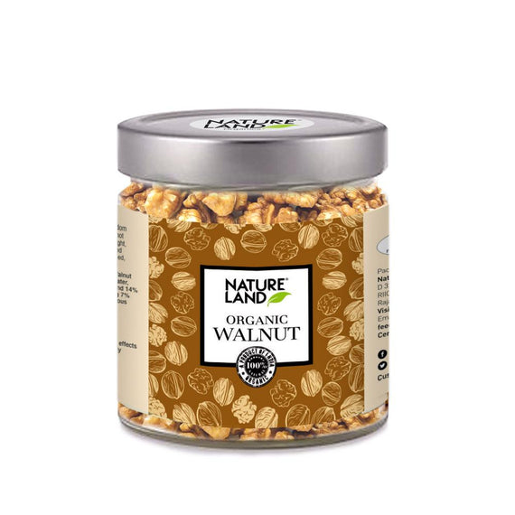 Natureland Organics Walnut 150 Gm - sai-organics-pte-ltd