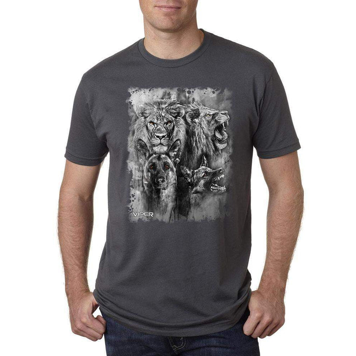 Viper - German Shepherd & Lion - Spirit Animals - Shirt - Design 13