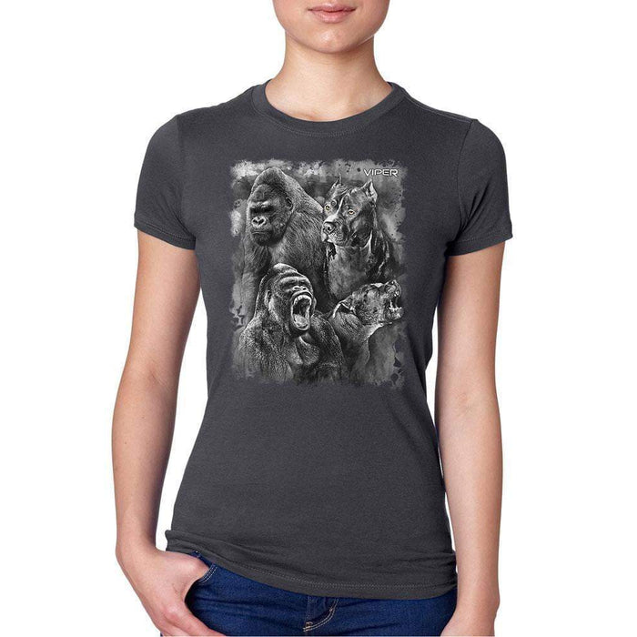 Viper - Pitbull & Gorilla - Spirit Animals - Shirt - Design 18