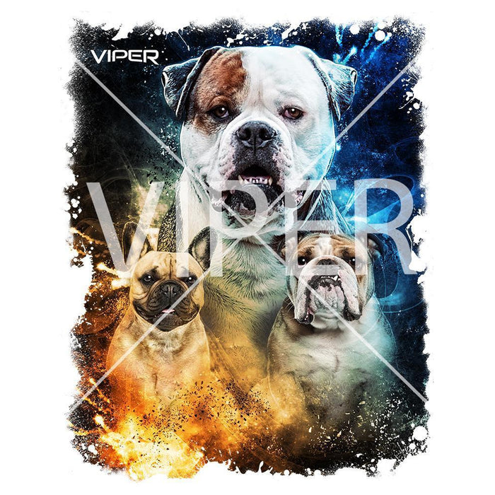 Viper - Bully - Blue & Orange - Shirt - Design 56