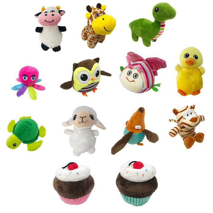 "NEW 6"" Mini Animal Dog Toy Collection with Pop-Up Display"