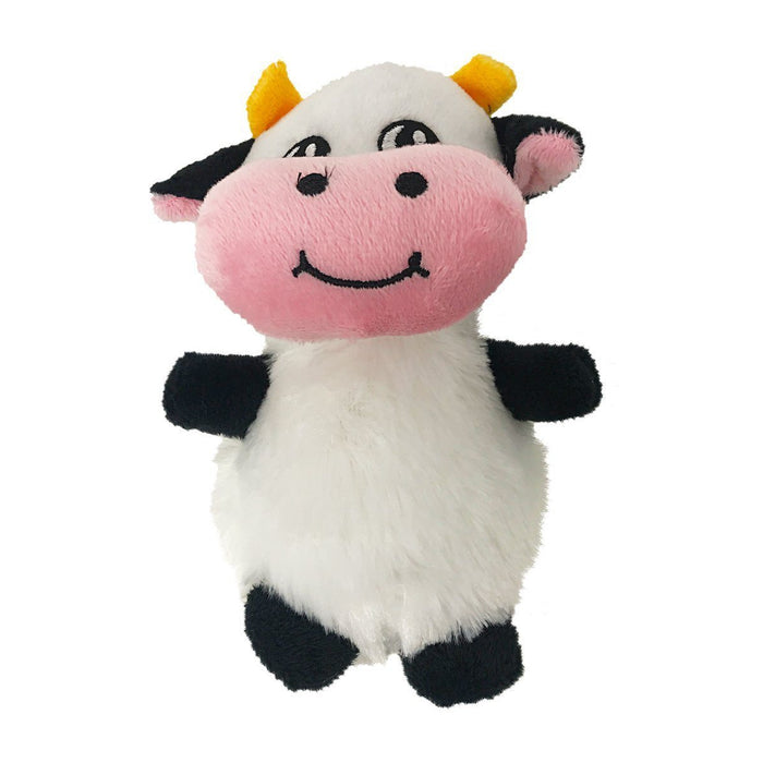 "6"" Cow Mini Dog Toy"
