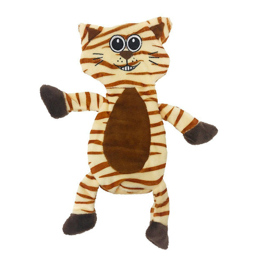 "12"" Tiger Crinkle Flat Dog Toy"