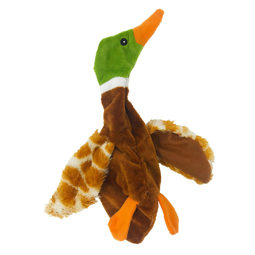 "9"" Duck Brown Crinkle Dog Toy"