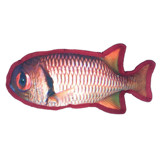 "11"" Tropical Snapper Dog Fish Toy"