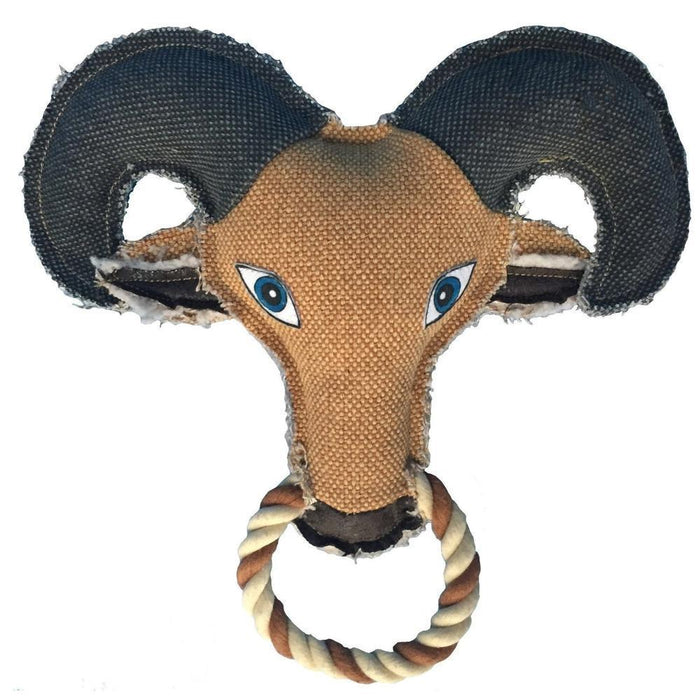 "10"" Nature Goat Animal Squeaky Toy"