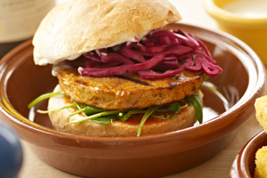Hooba meat-free burger