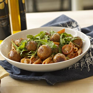 Hooba Vegan Meat-Free Balls with Pasta