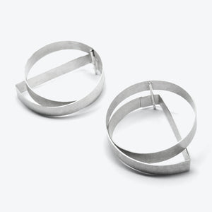 RIBBON EARRINGS - HALF ROUND