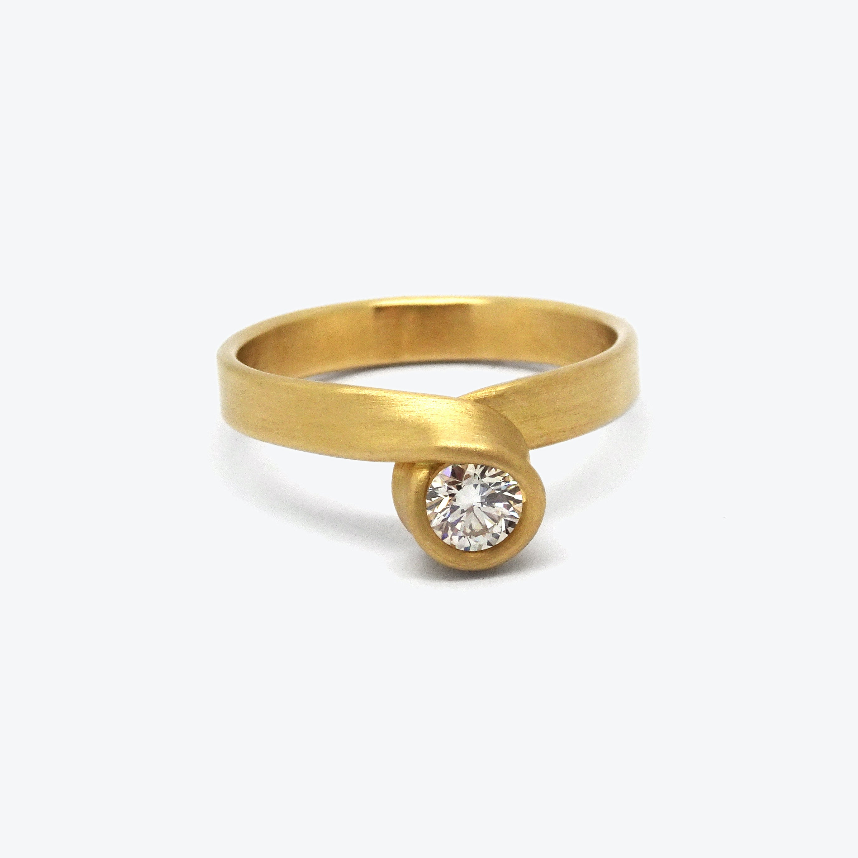 YELLOW LOOP ENGAGEMENT RING #20S