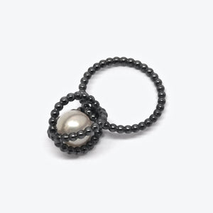 PEARL CAGE RING - OXI