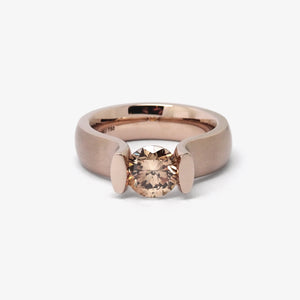 LUCIA TENSION ENGAGEMENT RING - ROSEWOOD