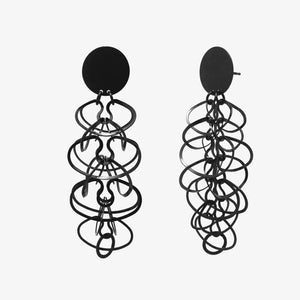 BLACK ALPHABET EARRINGS