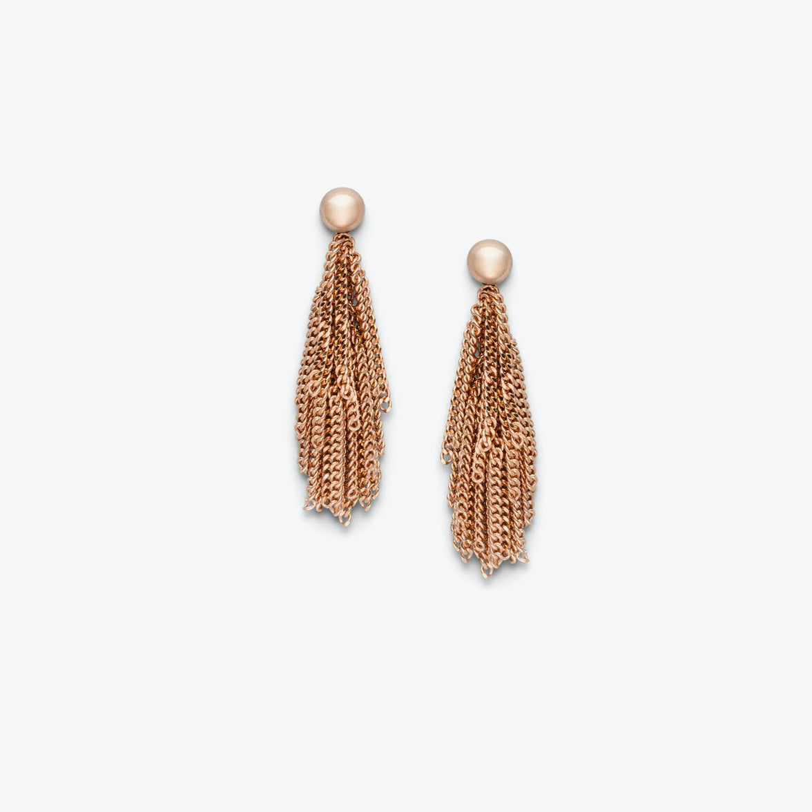 SHORT SIARA EARRINGS - ROSE GOLD PLATED
