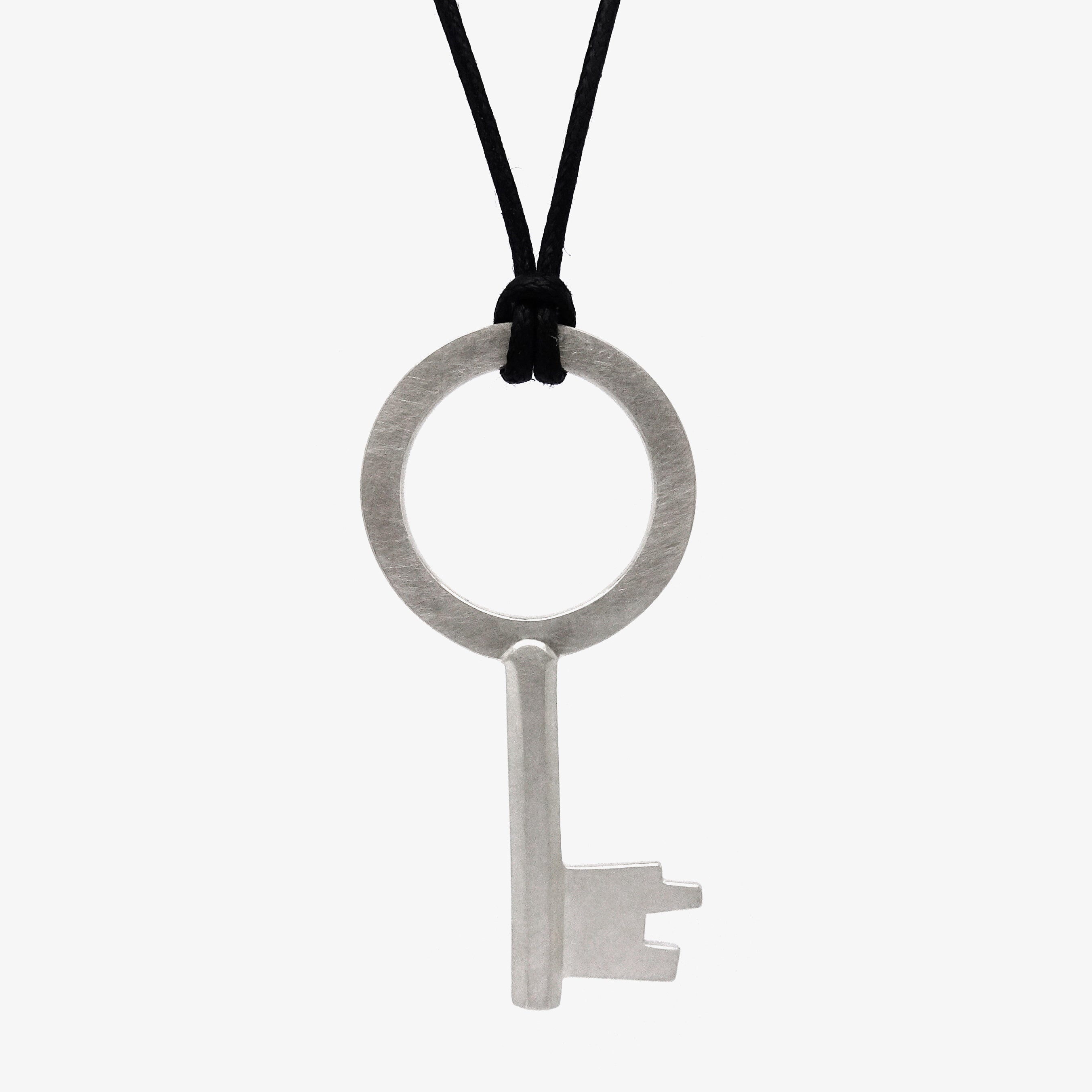 LARGE SILVER KEY PENDANT