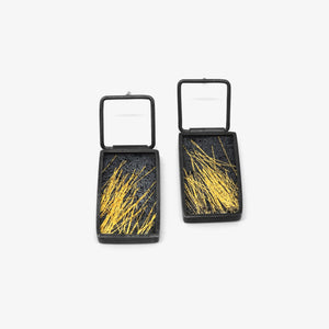 XL EARRINGS - GOLD STRAW