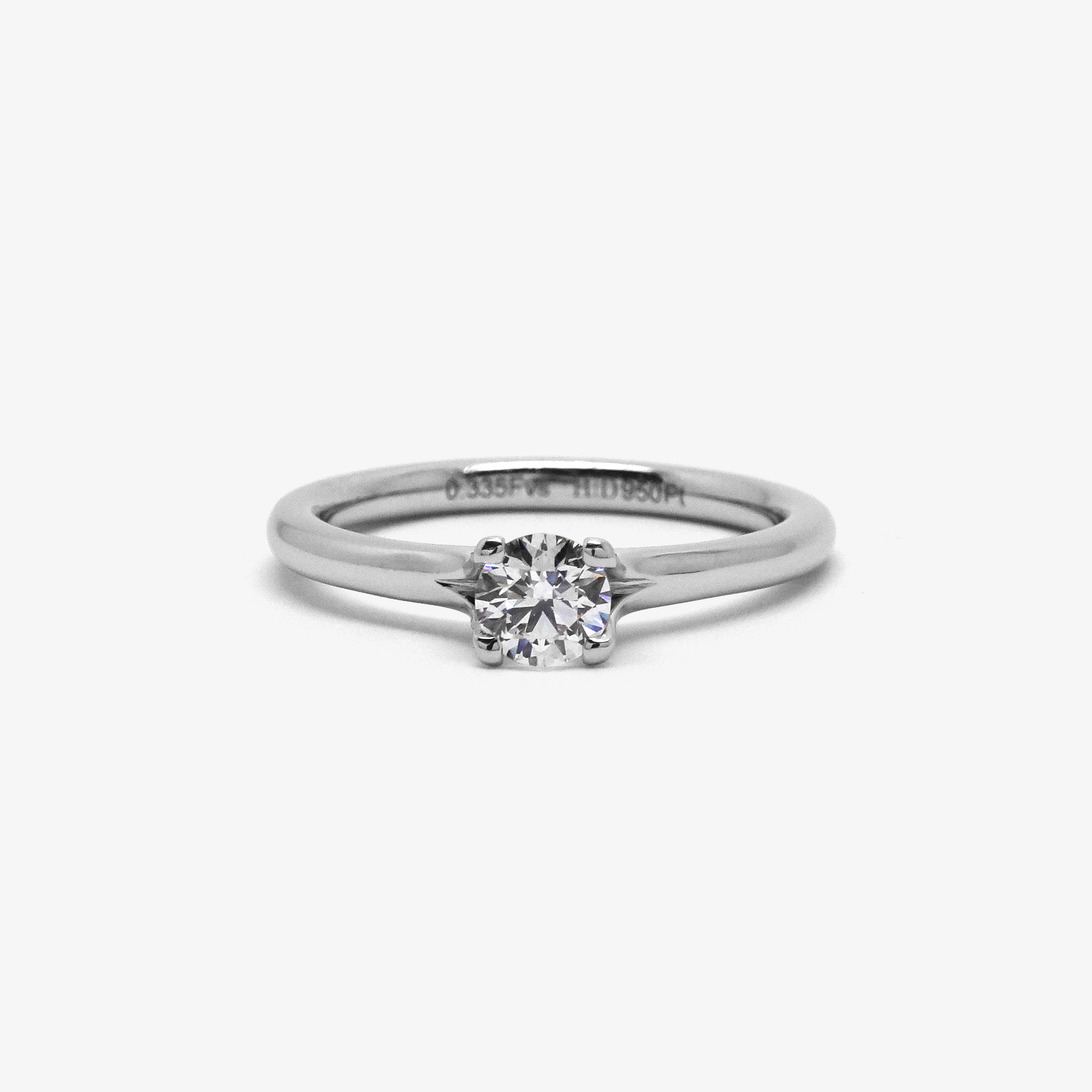 CORONA ENGAGENT RING - PLATINUM