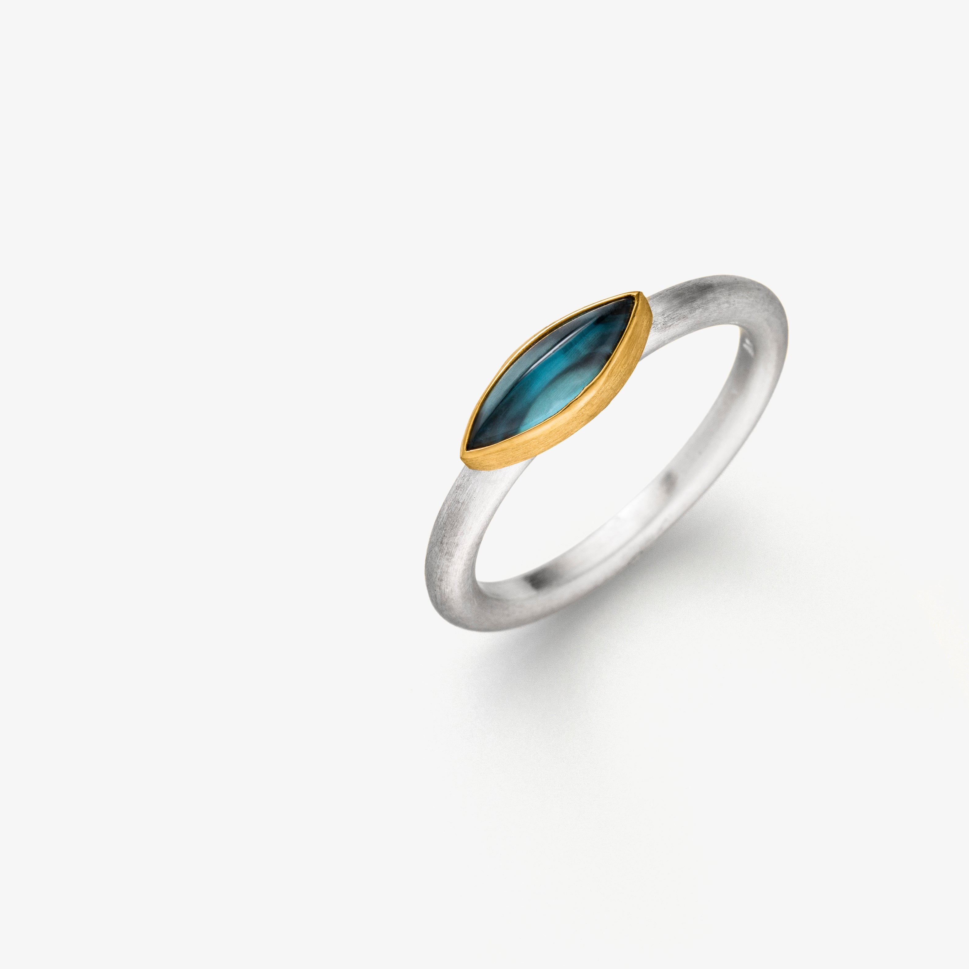 NAVETTE RING - LONDON BLUE