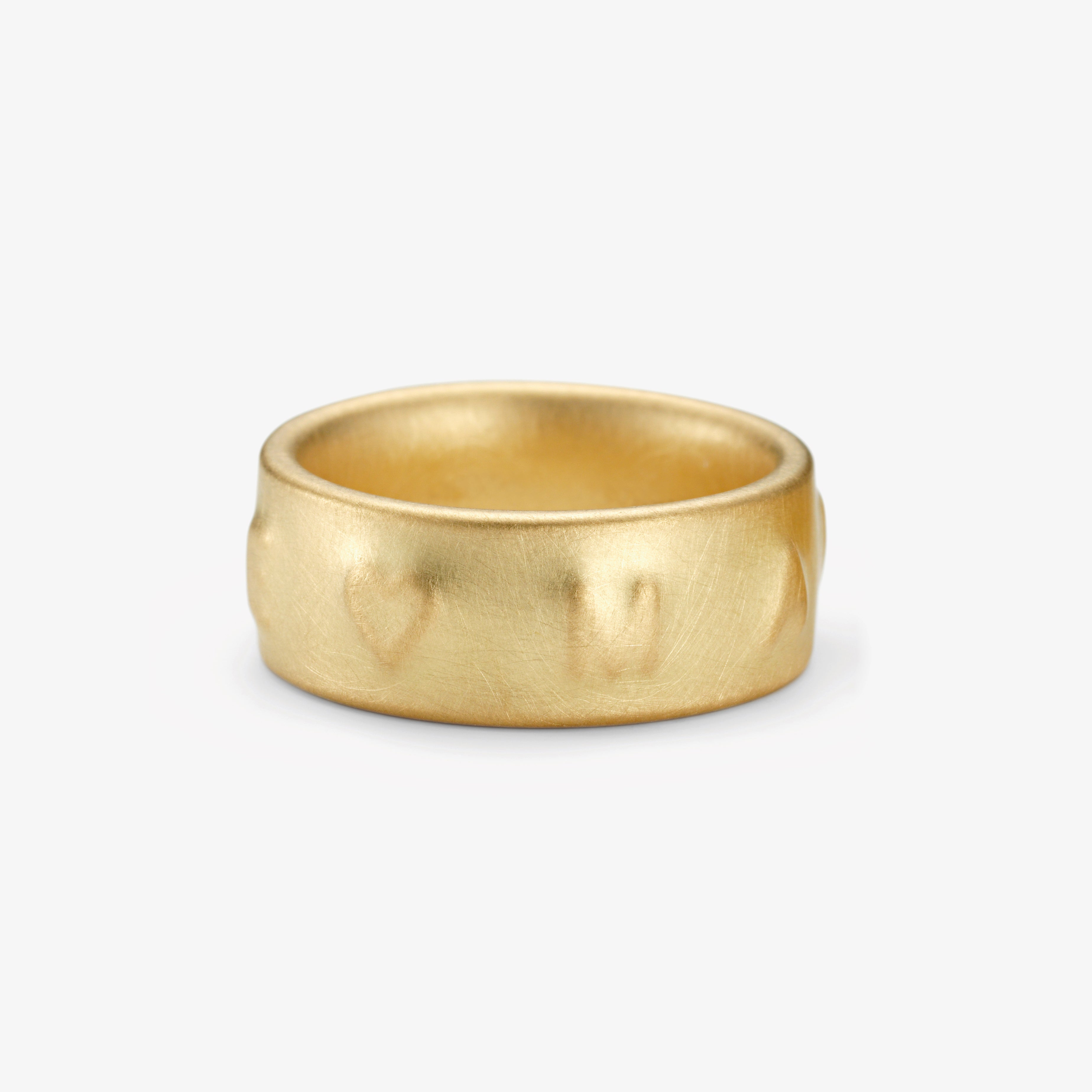 WIDE SIGNUM RING - YELLOW