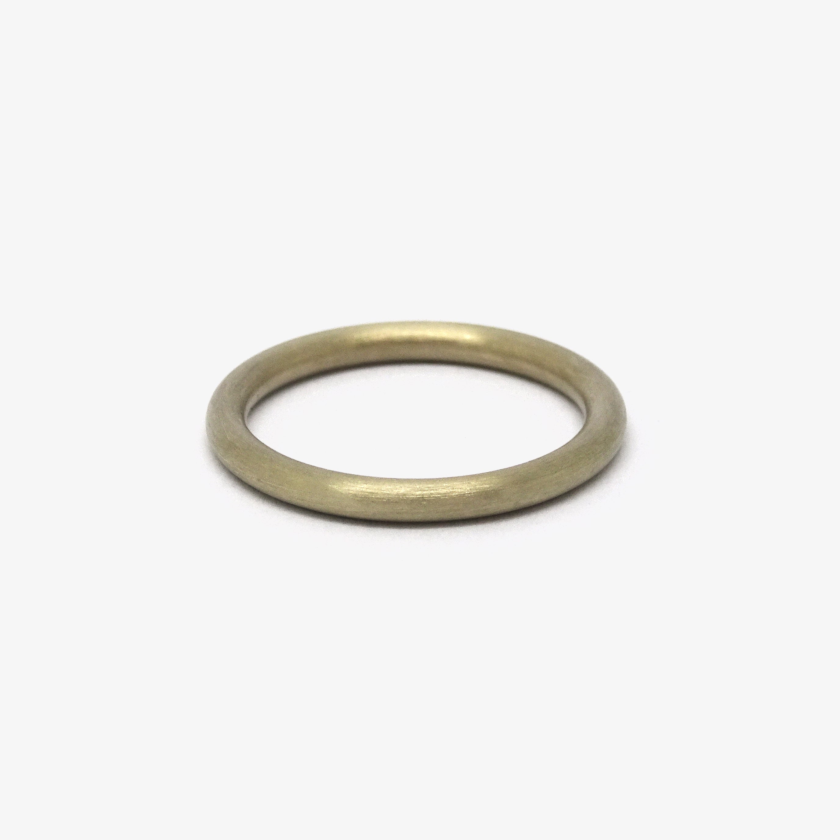 ROUND WEDDING RING - 2Ø IVORY GOLD