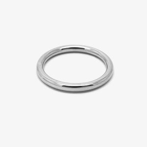 ROUND WEDDING RING - 2Ø PLATINUM
