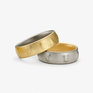 SIGNUM WEDDING RING - YELLOW + GREY