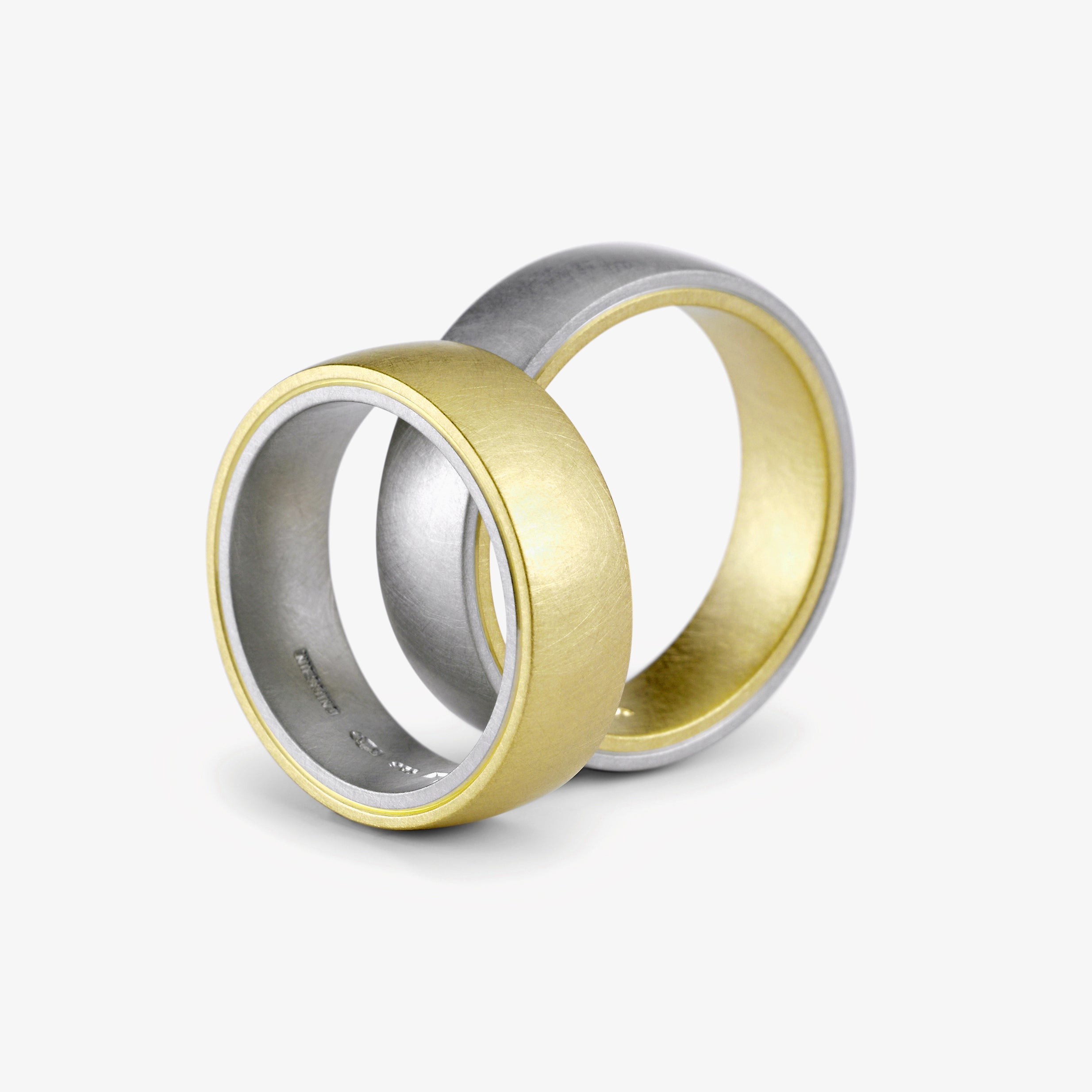 TANGO WEDDING RING - GREEN + PLATINUM