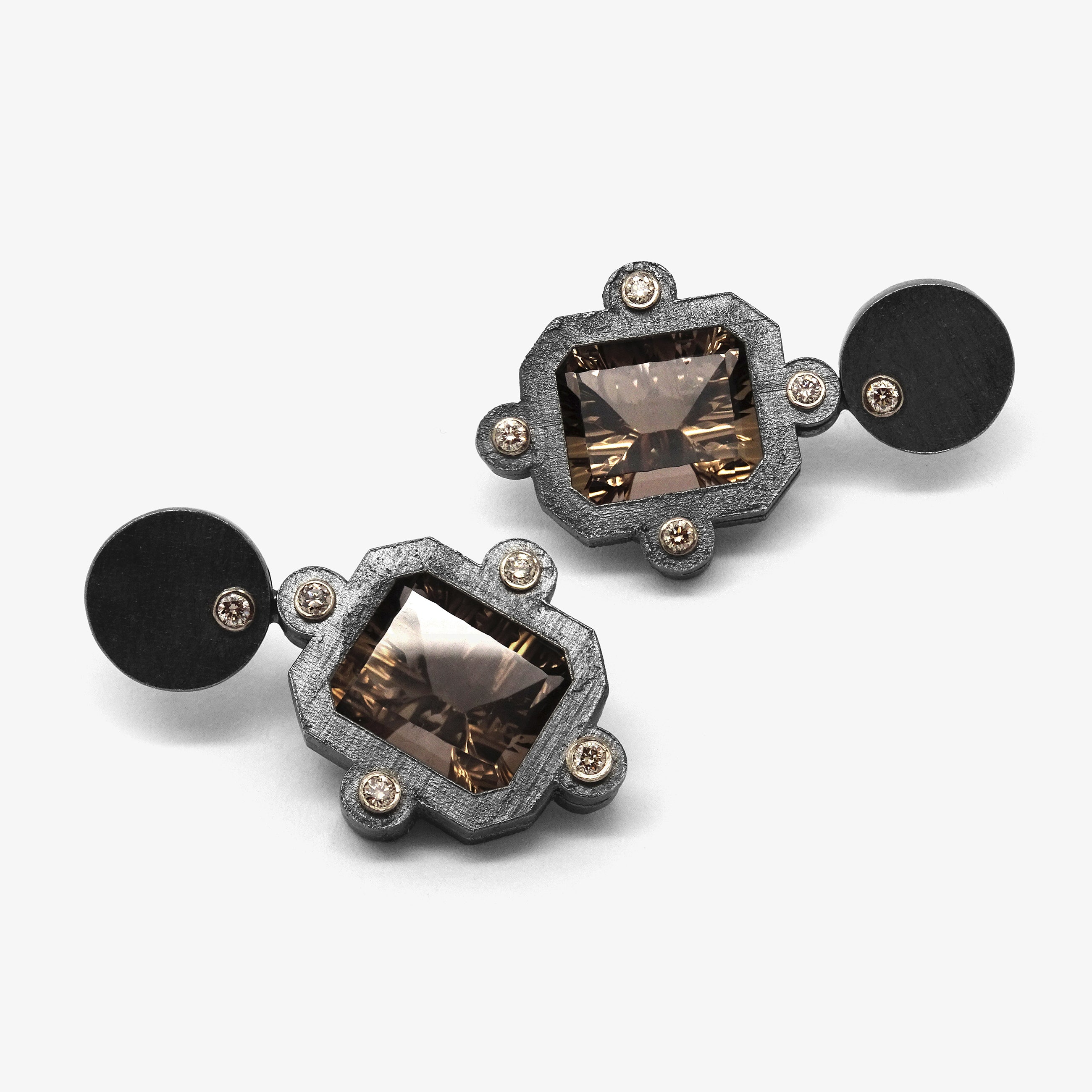 CANOPUS STUD EARRINGS - SMOKY QUARTZ