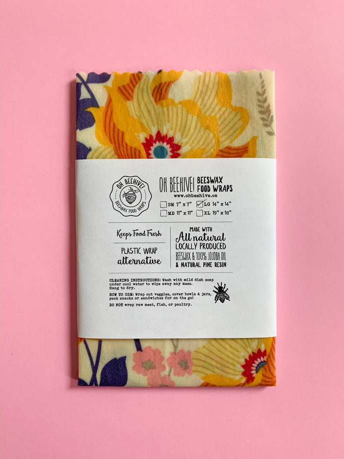 Single Large Beeswax Wrap | Various Prints