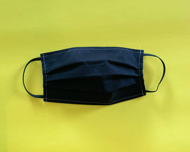 Face Mask | Adult | Lightweight Double Cotton | All Black