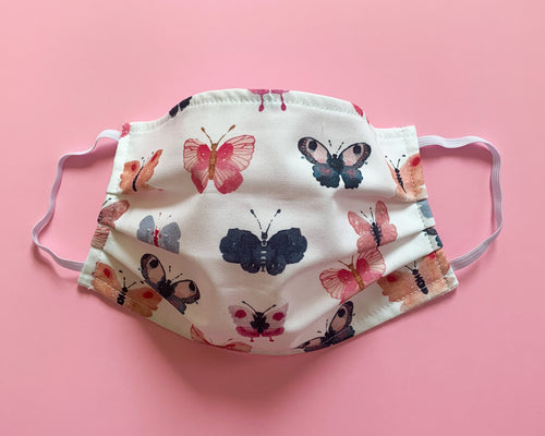 Face Mask | Adult | Lightweight Double Cotton | Butterflies