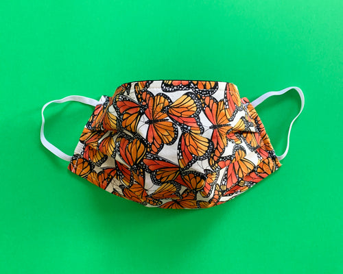 Face Mask | Adult | Lightweight Double Cotton | Monarch Butterflies