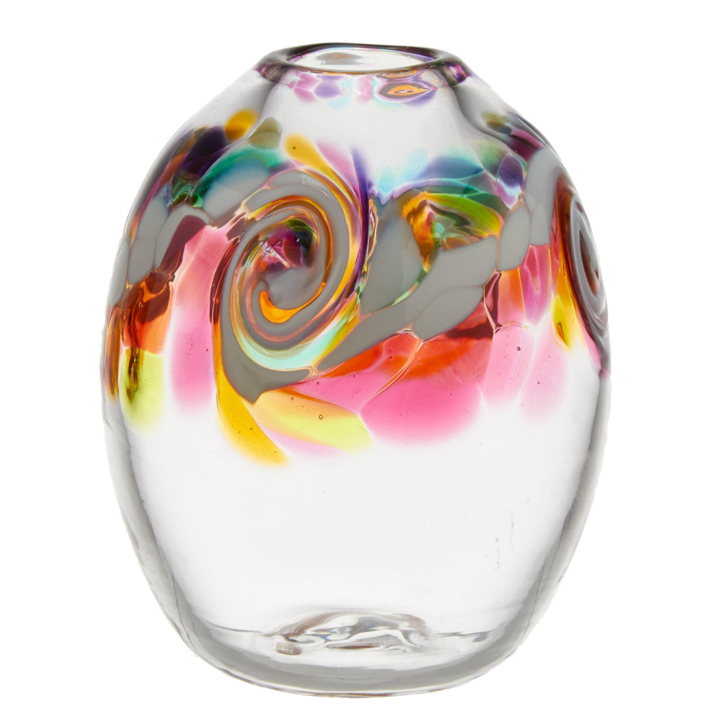 Oval Colour Wave Vase