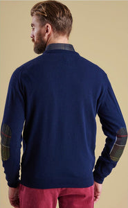 Barbour - Harrow Crew Neck - Dark Navy - Lardieri Store