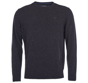 Barbour - Essential  Lambswool Crew Neck Jumper - Charcoal - Lardieri Store