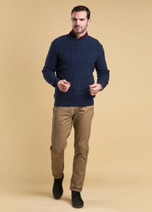Barbour - Essential Cable Crew - Indigo - Lardieri Store