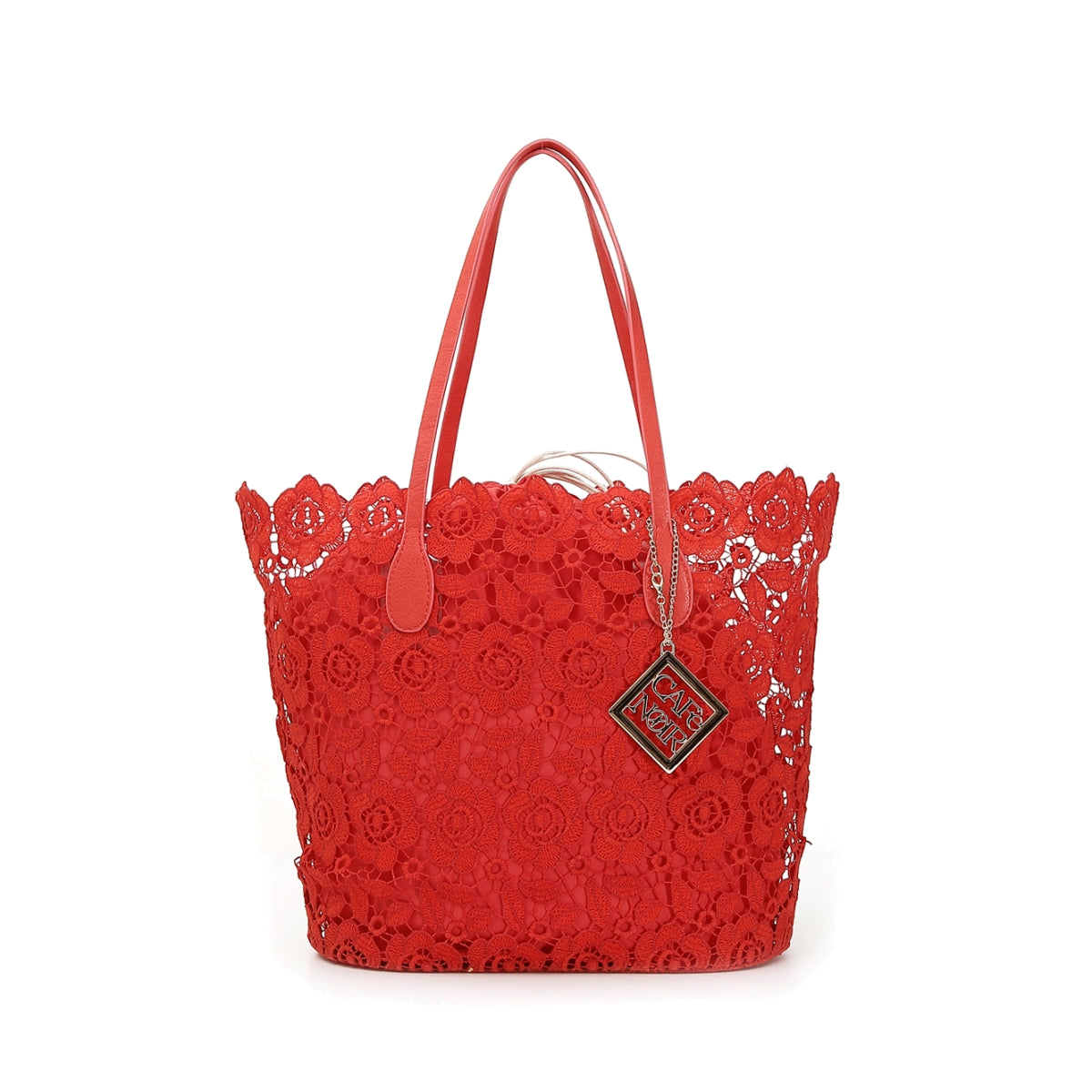 Cafènoir - Shopping bag in pizzo - Rosso