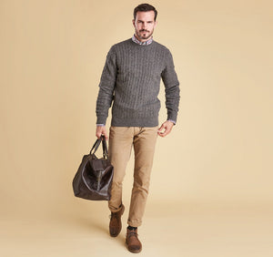 Barbour - Essential Cable Crew - Grey Marl - Lardieri Store