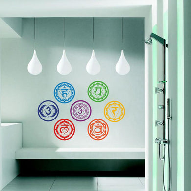 Seven Chakras Wall Stickers- Removable Vinyl Decals