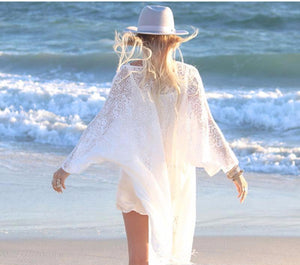 Womens Bikini Lace Kaftan Cover Up