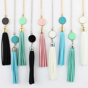 Long Chain Tassel Pendant