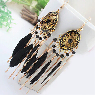 Tassel Boho Statement Earrings