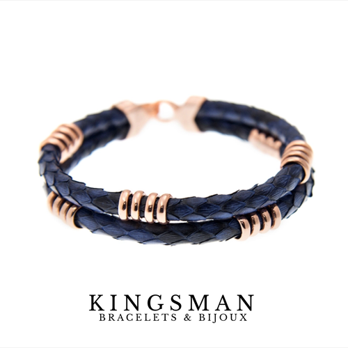 Rose gold phyton bracelet
