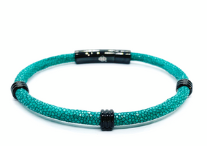 Turquoise Single Layer Stingray Bracelet