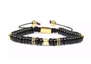 Insignia Star Gold and Agata Flatbead Bracelet