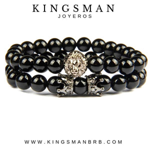 Agata Rhodium Lion Stack