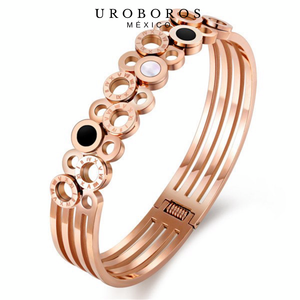Roman Rose Gold Bangle