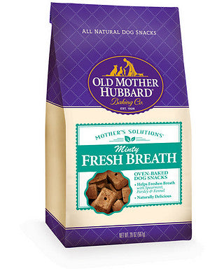 Old Mother Hubbard Mothers Solutions Crunchy Natural Minty Fresh Breath Recipe Biscuits Dog Treats