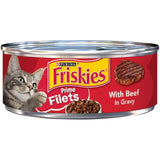 Friskies Prime Filets With Beef In Gravy Canned Cat Food